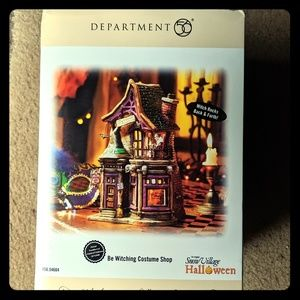 Dept 56 Halloween Be witching costume shop